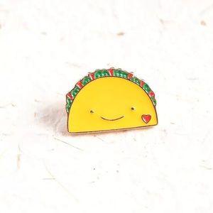 Cute Taco Face Enamel Pin